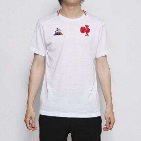 ルコックスポルティフ le coq sportif メンズ ラグビー 半袖シャツ FFRハンソデTシャツ QEMOJA02RB