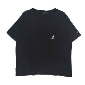 ラナン Ranan (KANGOL)ポケット付Tシャツ (ブラック)