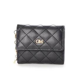 セシルマクビー CECIL McBEE ポルシェシリーズ キルティング三つ折り財布 (ブラック)