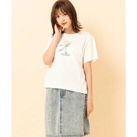 レトロガール RETRO GIRL girlsプリントTee (ホワイト)