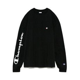 フレイアイディー FRAY I.D 【FRAY I.D×Champion】スリーブプリントロングTシャツ (ブラック)