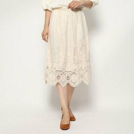 【アウトレット】テチチ アウトレット Te chichi outlet チュール裾刺繍スカート (キナリ)