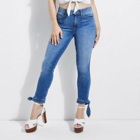 ゲス GUESS 1981 HIGH RISE TIE CROPPED SKINNY DENIM PANT (STRADA WASH)