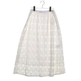 【アウトレット】サマンサ モスモス アウトレット Samansa Mos2 outlet オーバーレーススカート (オフホワイト)