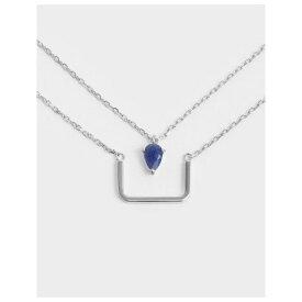 グリーンアゲート レイヤードマチネネックレス / Green Agate Layered Matinee Necklace (Silver