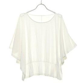 【アウトレット】ルノンキュール アウトレット Lugnoncure outlet 裾ギャザーポンチョT (オフホワイト)