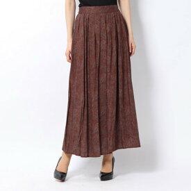 【アウトレット】ルノンキュール アウトレット Lugnoncure outlet ペイズリープリントスカート (ブラウン)