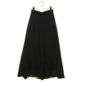 【アウトレット】ルノンキュール アウトレット Lugnoncure outlet シルキーサテンマキシスカート (ブラック)