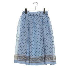 【アウトレット】テチチ テラス アウトレット Te chichi TERRASSE outlet ペイズリースカート (ブルー)