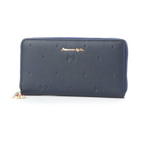 プリムヴェールリズリサ Primevere LIZ LISA フロル リボンドット型押しラウンドファスナー長財布 (60)