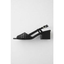 マウジー moussy BRAIDED STRAP SANDALS (ブラック)