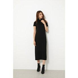 リエンダ rienda ワンピースen Shoulder Knit ワンピース (ブラック)