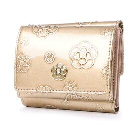 ceaedc54ab23 クレイサス CLATHAS アルゴ 三つ折り財布 (ゴールド)