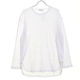 スタイルブロック STYLEBLOCK ワッフルロング丈長袖ビッグTシャツ (ホワイト)