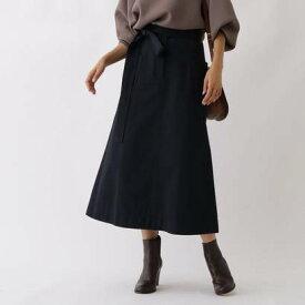 アクアガール aquagirl ビッグポケットAラインスカート (ネイビー)