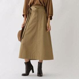 アクアガール aquagirl ビッグポケットAラインスカート (ベージュ)