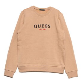 ゲス GUESS EMBROIDERY U.S.A. LOGO CREW SWEAT (BEIGE)