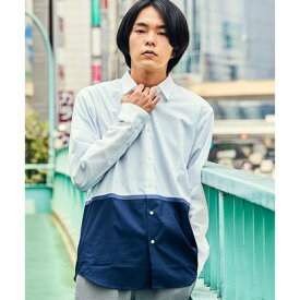 ティーケー タケオ キクチ tk.TAKEO KIKUCHI テープ配色ブロッキングシャツ (ホワイト)