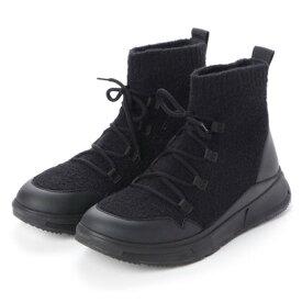 フィットフロップ fitflop COMFFKNIT SOCK BOOTS (All Black)