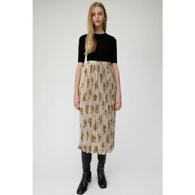 マウジー moussy BRUSHED ROSE PLEATS SKIRT (ライトベージュ)