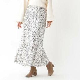 アクアガール aquagirl 小花柄マキシマーメイドスカート (オフホワイト)