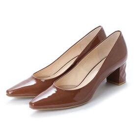 【アウトレット】アンタイトル シューズ UNTITLED shoes パンプス (ブラウンエナメル)