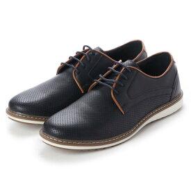 ブラッチャーノ Bracciano シューズ メンズ PUレザーカジュアル ビジカジ コンフォート靴(NAVY)