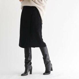 アクアガール aquagirl ウエストリボンラップスカート (ブラック)