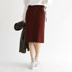 アクアガール aquagirl ウエストリボンラップスカート (ブラウン)