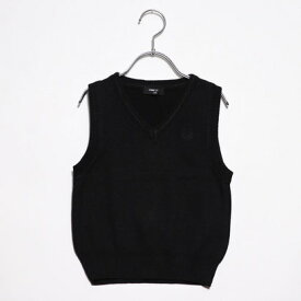 コムサイズム COMME CA ISM 洗える ニット ベスト(100-130サイズ) (ブラック)