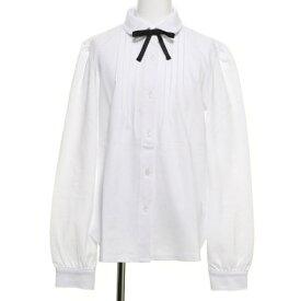 コムサイズム COMME CA ISM リボンタイ付き 長袖ブラウス(140-160サイズ) (ホワイト)