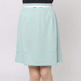 【アウトレット】ファインセレクション FINE SELECTION リボン台形スカート (ミントグリーン)