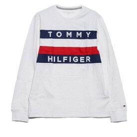 トミーヒルフィガー TOMMY HILFIGER 【ネット限定】ビッグ フラッグ Tシャツ / UPSTATE FLAG LS TEE (ホワイト)