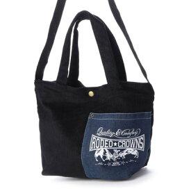 ロデオクラウンズ RODEO CROWNS CORDUROY SHOLDER BAG C06-1-00042 (ブラック)