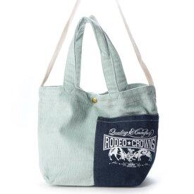 ロデオクラウンズ RODEO CROWNS CORDUROY SHOLDER BAG C06-1-00042 (ミントグリーン)