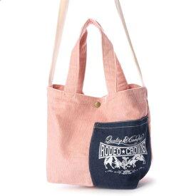 ロデオクラウンズ RODEO CROWNS CORDUROY SHOLDER BAG C06-1-00042 (ピンク)