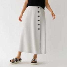 アクアガール aquagirl ドライタッチボタンラップスカート (ライトグレー)