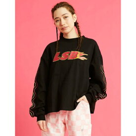 リトルサニーバイト little sunny bite LSB fire short long tee (BLACK)