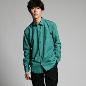 ティーケー タケオ キクチ tk.TAKEO KIKUCHI 【MADE IN JAPAN】プレーンシャツ (ダークグリーン)