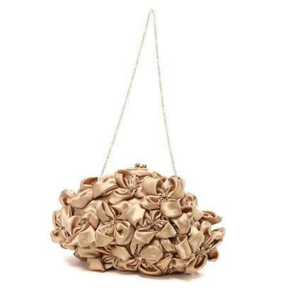 【アウトレット】カシェリエ cachellie フラワーポーチ(ゴールド)