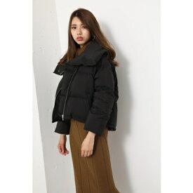 リエンダ rienda Back Tail Short Down Coat (ブラック)