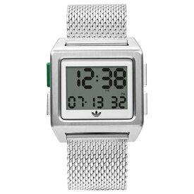 アディダス adidas Archive_M1 (Silver / White / Green)