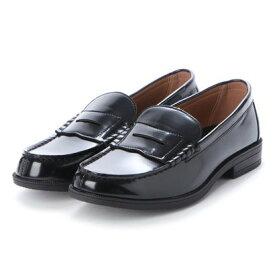 エニーウォーク Anywalk メンズ ローファー カジュアル ビジネスシューズ 靴 学生 人工皮革 防滑底 3E 幅広 EEE ゆったりサイズ aw_20175(BLACK) (ブラック)