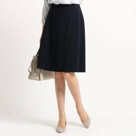 インディヴィ INDIVI [L]【ママスーツ/入学式 スーツ/卒業式 スーツ/マシンウォッシャブル】セミフレアスカート (ネイビー)