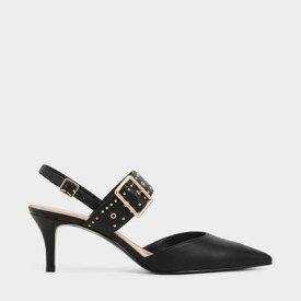 【再入荷】スタッズ スリングバックヒール / Studded Slingback Heels (Black)