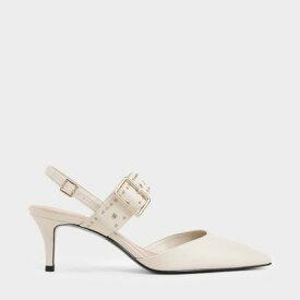 【再入荷】スタッズ スリングバックヒール / Studded Slingback Heels (Chalk)