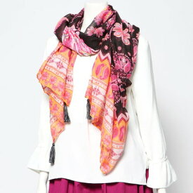 デシグアル Desigual スカーフ BOHO MANDALA (グレー/ブラック)