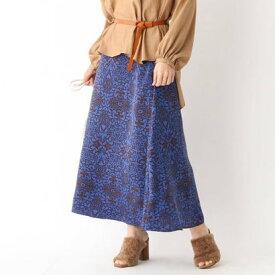 アクアガール aquagirl サテンフラワーAラインスカート (ネイビー)