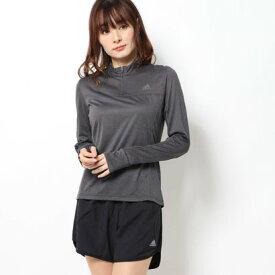 アディダス adidas レディース 陸上/ランニング 長袖Tシャツ OTR 1/2 ZIP ロングスリーブTシャツ FL7812