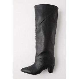 マウジー moussy LOOSE FIT LONG BOOTS (ブラック)